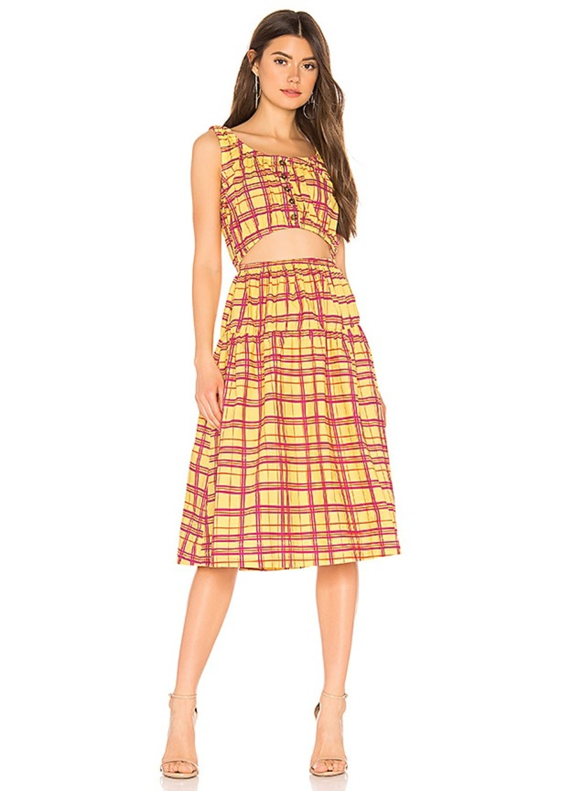 L'Academie The Anne Midi Dress