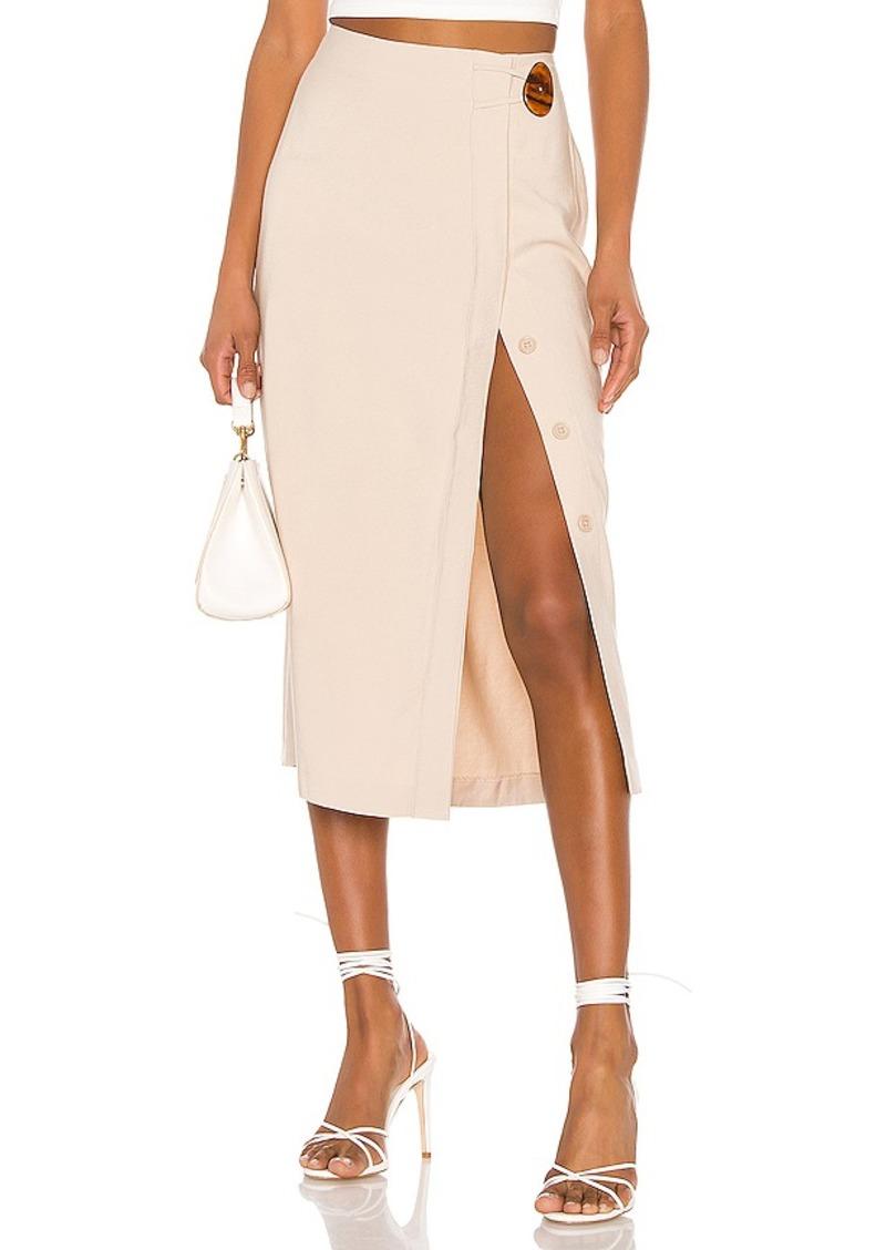 L'Academie The Jeanne Midi Skirt