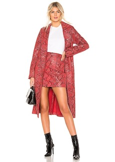 L'Academie The Serpent Leather Trench Coat