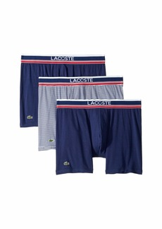 Lacoste 3-Pack Signature Waistband Stripe Boxer Brief