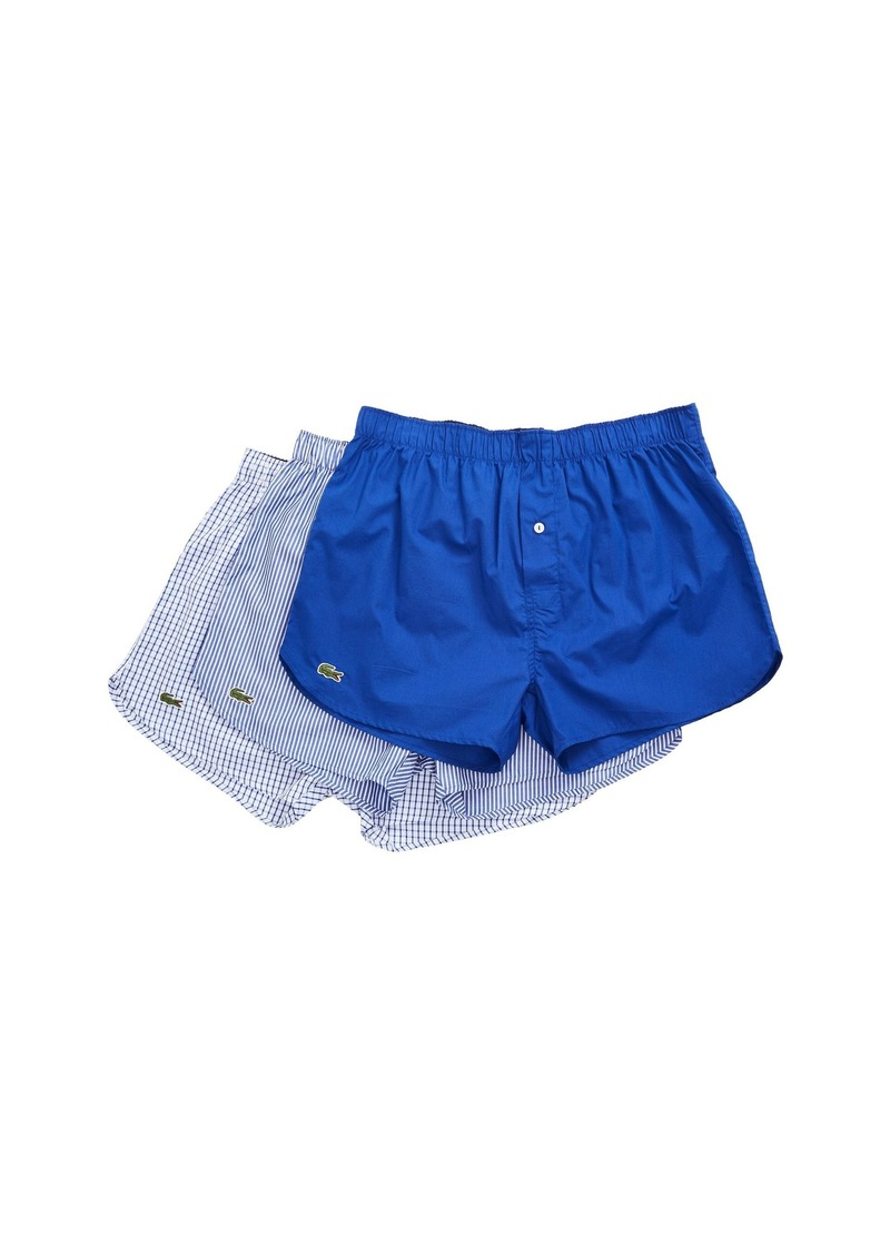 6e096821e0aadc Lacoste Authentics 3-Pack Gingham Print Woven Boxers