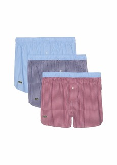 Lacoste Authentics 3-Pack Woven Boxer Gingham