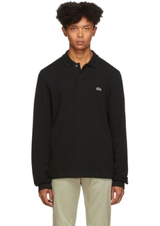 Lacoste Black Classic Long Sleeve Polo