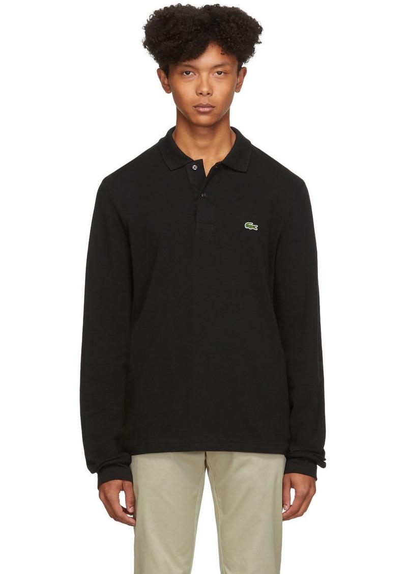 Lacoste Black Classic Long Sleeve Polo