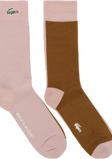 Lacoste Blue & Off-White Golf le Fleur* Edition Colorblocked Socks