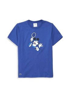 Boy's Lacoste x Disney Mickey Mouse Tennis Graphic Tee