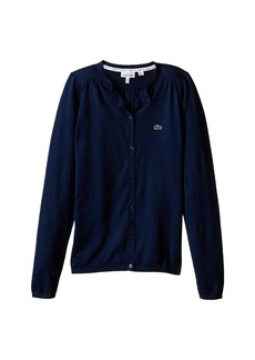 Lacoste Classic 100% Cotton Cardigan (Infant/Toddler/Little Kids/Big Kids)