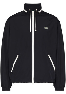 Lacoste embroidered logo zipped hooded jacket