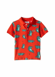 Lacoste Fun Croc All Over Print Pique Polo (Infant/Toddler/Little Kids/Big Kids)