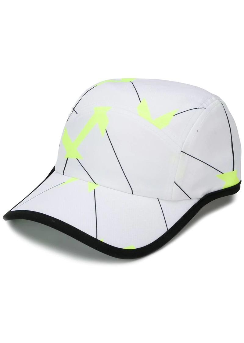 Lacoste geometric print baseball cap