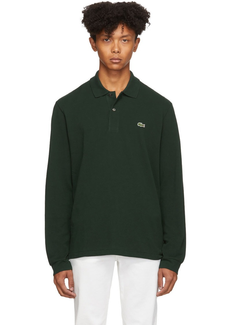 Lacoste Green Classic Long Sleeve Polo