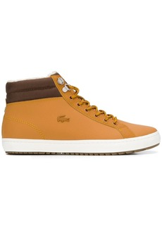Lacoste canvas trim ankle boots