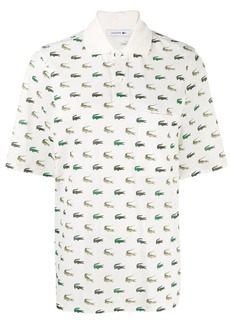 Lacoste logo oversized polo shirt