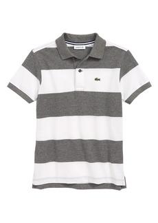Lacoste Bicolor Stripe Piqué Polo (Toddler Boys & Little Boys)