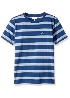 Lacoste Big Boy Short Sleeve Heather Stripe Crew Neck T-Shirt