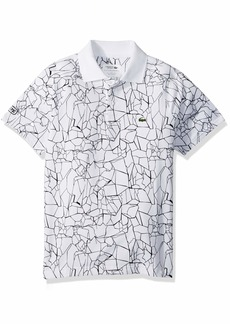 Lacoste Big Boy Sport Short Sleeve All Over Print Djoko Polo