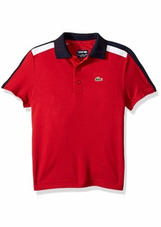 Lacoste Big Boy Sport Short Sleeve Color Block Tennis Polo Lighthouse red/Navy Blue
