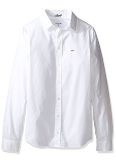 Lacoste Big Boy Long Sleeve Classic Oxford Woven Shirt