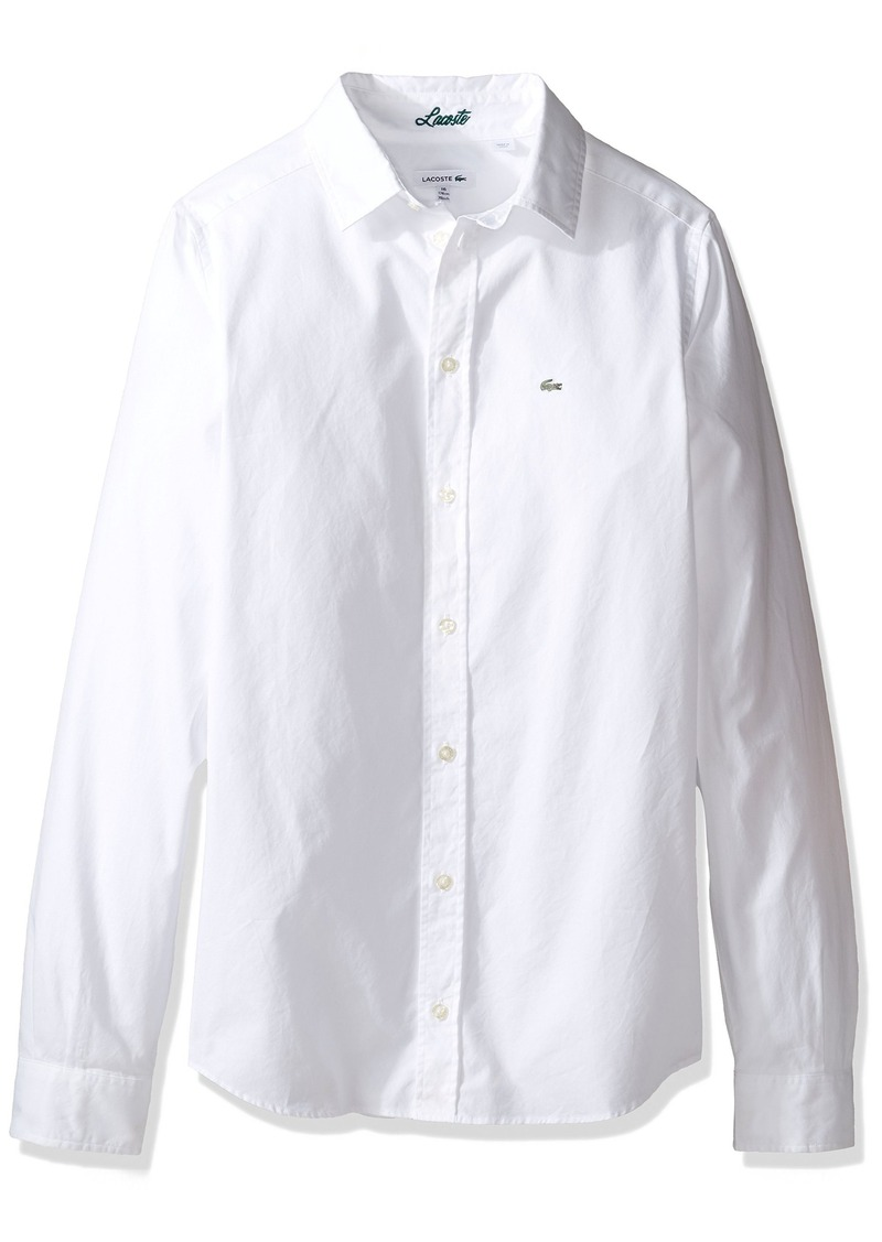 30e43956f On Sale today! Lacoste Lacoste Big Boy Long Sleeve Classic Oxford ...