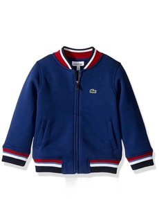 Lacoste Big Long Sleeve Fz Jacket with Rib Tipping Boys