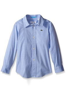 Lacoste Big Boys Long Sleeve Oxford Woven Shirt  A