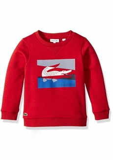 93d529462aa139 Lacoste Lacoste Boys  Big Boys  Crew Neck Sweatshirt with Large Croc ...