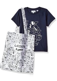 Lacoste Big Boys' Short Sleeve Omy Graphic T-Shirt