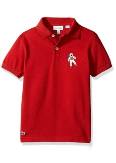 Lacoste Big Boys' Short Sleeve Polo with All Over Graphic Croc Pj8548