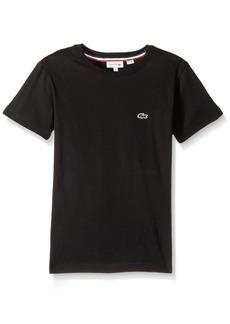 Lacoste Big Boys' Short Sleeve Solid Crew Tee Shirt