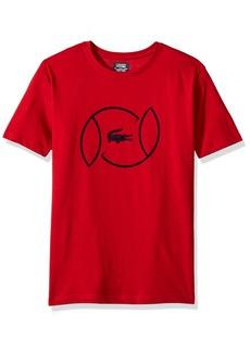 Lacoste Big Boys' Sport Short Sleeve Croc Logo Tee Shirt