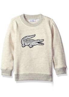 Lacoste Boys' Big Boys' Crew Neck Sweatshirt with Large Croc  A