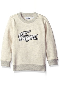 Lacoste Boys' Big Boys' Crew Neck Sweatshirt With Large Croc  A