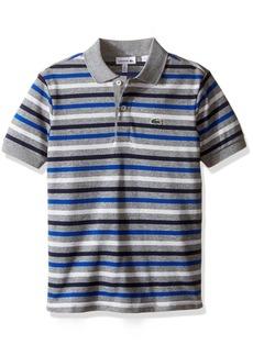Lacoste Boys' Big Boys' Short Sleeve Multi-Stripe Mini Pique Polo  A