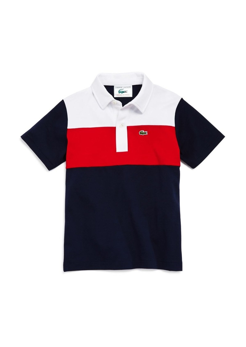 534bdccc Lacoste Lacoste Boys' Color-Block Polo - Little Kid, Big Kid ...