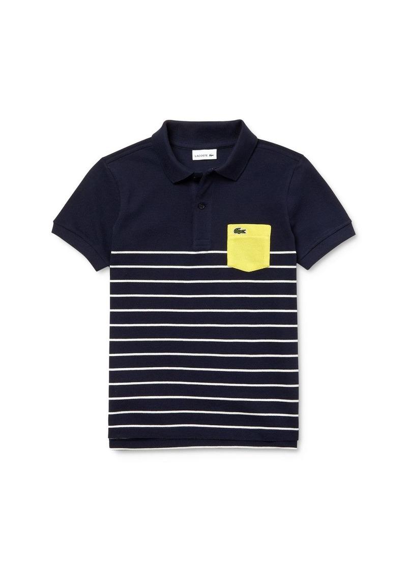 Lacoste Boys' Contrast Pocket Polo Shirt - Little Kid, Big Kid