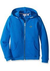 Lacoste Boys' Little Boys' Full-Zip Chine Fleece Sweatshirt