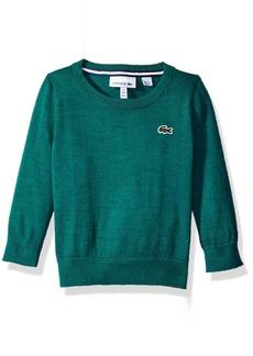 Lacoste Boys' Little Boys' Solid Wool Blend Crew Neck Sweater