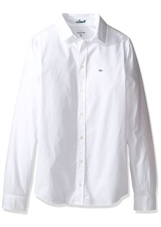 Lacoste Boys' Long Sleeve Classic Oxford Woven Shirt