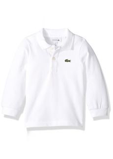 Lacoste Boys' Long Sleeve Classic Solid Pique Polo