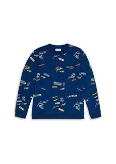 Lacoste Boys' Printed Sweatshirt - Little Kid, Big Kid