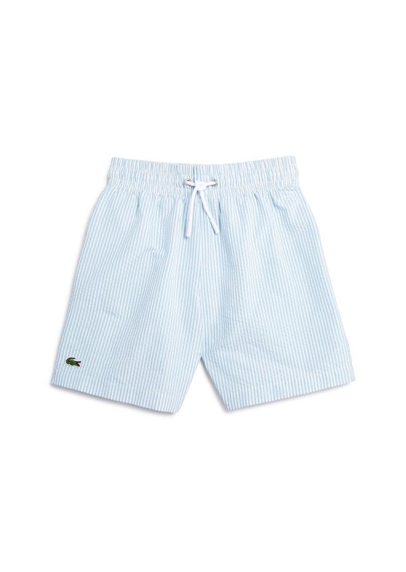 5303e57ea3 Lacoste Lacoste Boys' Seersucker Swim Trunks - Little Kid, Big Kid ...