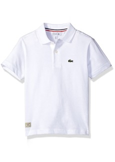 Lacoste Boys' Short Sleeve Solid Jersey Polo Shirt