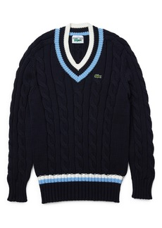 Lacoste Cable V-Neck Sweater