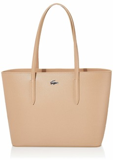 Lacoste Chantaco Medium Zip Shopping Bag Navy Blue/Narcissus-Coconut Oil