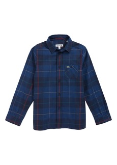 Lacoste Check Flannel Shirt (Big Boys)