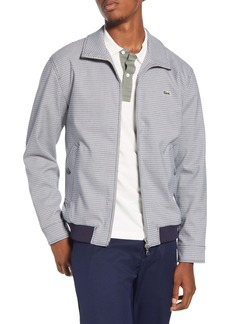 Lacoste Check Print Zip Jacket