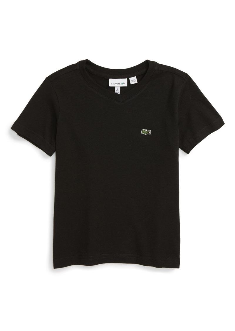 Lacoste Classic Jersey V-Neck T-Shirt (Toddler Boys, Little Boys & Big Boys)
