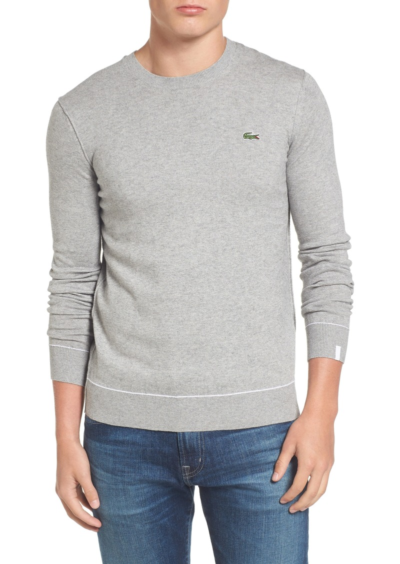 lacoste lacoste crewneck sweater sweaters shop it to me. Black Bedroom Furniture Sets. Home Design Ideas