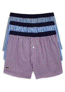 Lacoste Gingham Boxer Briefs - Pack of 3