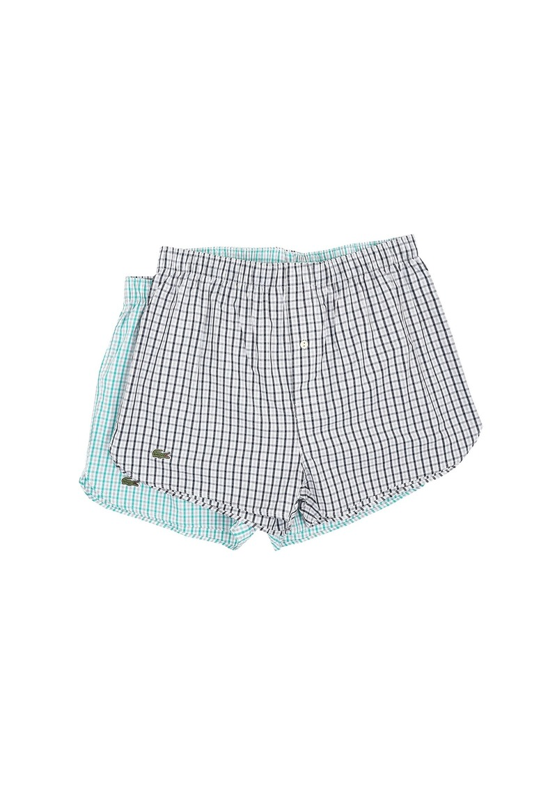 Lacoste Gingham Heather Boxer 2-Pack